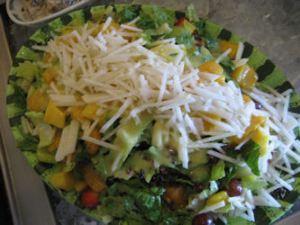 The yummy salad I had